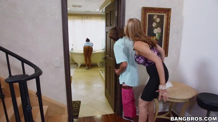 Bang Bros - StepMom Threesome With The Maid - Julia Ann, Abby Lee Brazil