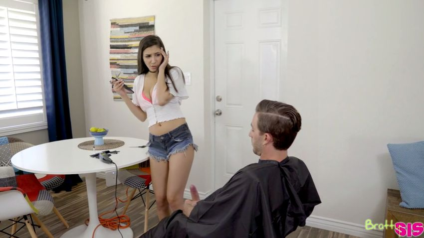 Bratty Sis Gianna Dior, Lucas Frost - Fuck For A Haircut Full 18 min / Step Sister Sex / Stepbrother Sex / Sister Brother Sex / Step Family Porn / Hot Sis